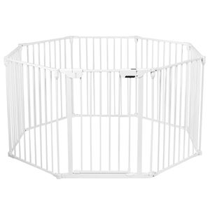A10-7. 8 Panel Baby Safe Metal Gate Play Yard  Barrier Pet Fence Wall-mount Adjustable for Sale in City of Industry, CA