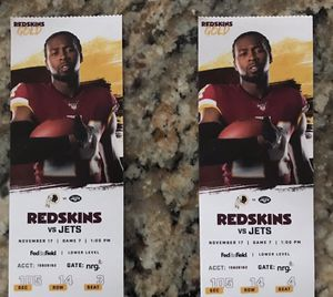 SKINS VS JETS TICKETS!!! for Sale in Silver Spring, MD
