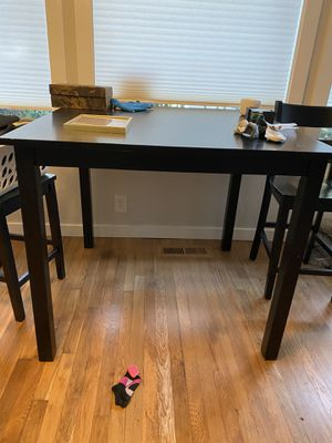Black table (no chairs) for Sale in Tigard, OR