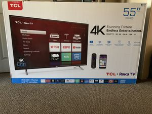 """TCL 4K HDR 55"""" for Sale in Los Angeles, CA"""