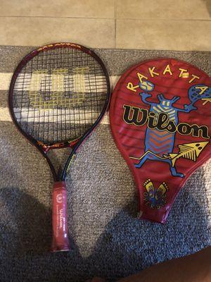 Wilson Rak Attak oversized youth tennis racket w cover for Sale in Las Vegas, NV