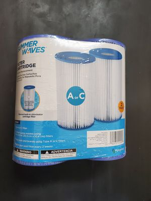 Summer Waves Type A/C Swimming Pool Pump Filter Cartridge - 2 PACK for Sale in Denver, CO