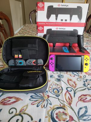 """""""Nintendo Switch"""" excellent condition with GAMES and ACCESSORIES for Sale in Los Angeles, CA"""