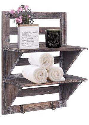 Rose Home Fashion 3.9 out of 5 stars 63 Reviews RHF Rustic Shelves Bathroom Shelf Over Toilet Wood Wall Mounted Shelves for Bathroom Floating Shelve for Sale in Los Angeles, CA