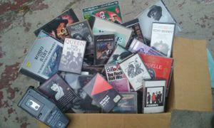 BOX FULL of old school tapes and cds from the 50's-90's for Sale in San Bernardino, CA