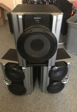 Sony subwoofer two speakers for Sale in Baltimore, MD