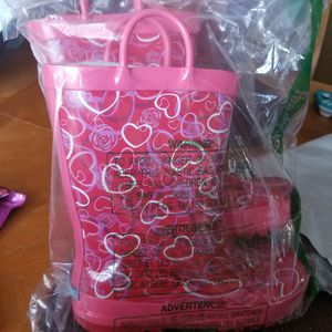 Girl rain boots size 1 for Sale in Lithonia, GA