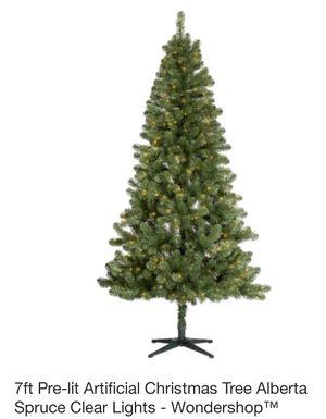 7 ft pre lit artificial Christmas tree - Brand New Still in box for Sale in Daytona Beach, FL
