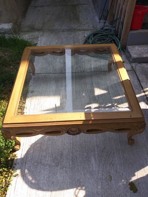 Glass and wood coffee table for Sale in Penbrook, PA