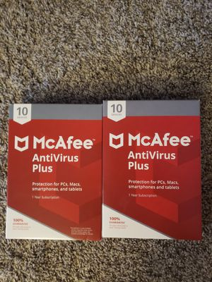 McAfee Antivirus Plus 10 Devices PC Mac Tablets and Smartphones! for Sale in Arvada, CO