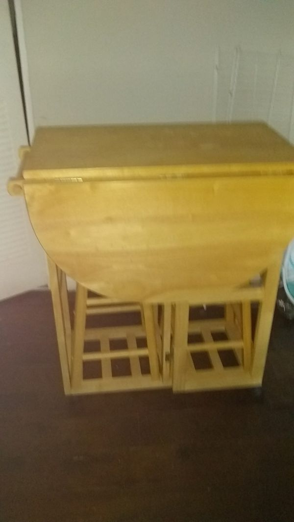 Small kitchen table with stool