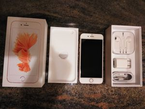 Unlocked Rose Gold iPhone 6s 64GB All New Accessories for Sale in New Brunswick, NJ
