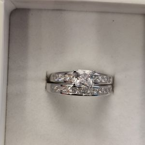 2 SILVER & CUBIC ZIRCONIA ENGAGEMENT RING SET for Sale in Phoenix, AZ