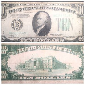 1934 A Series 10 Dollar New York, NY Nice Circulated Condition for Sale in Geneva, IL