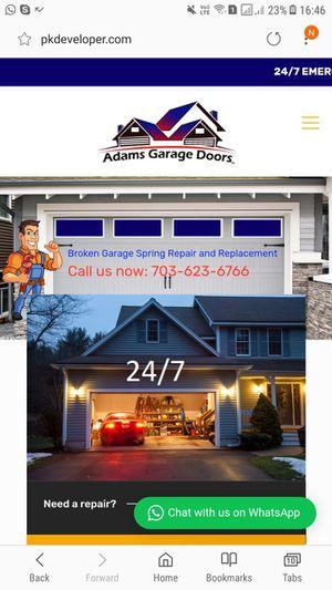 Garage doors installation opener replacement& spring replacements for Sale in Woodbridge, VA