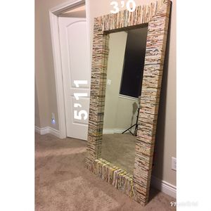 Nice Large Wall/ Floor Mirror for Sale in Cypress, TX