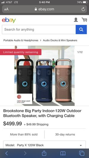 Bluetooth speaker made by brookstone for Sale in Leawood, KS