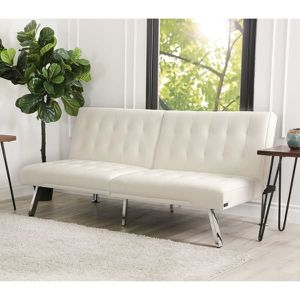 Ivory PU Leather Futon for Sale in Chesapeake, VA