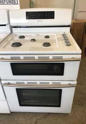 White duel fuel jennair range oven stove double oven for Sale in Denver, CO