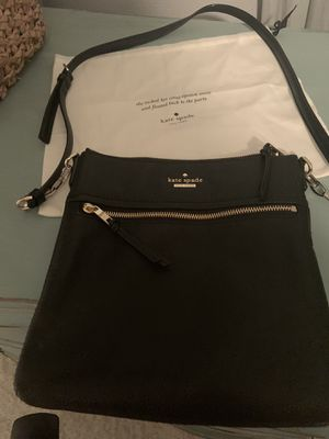 New with tags and dust bag Kate Spade crossbody black leather bag for Sale in Murrysville, PA