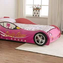 PINK SPORTS CAR LED LIGHTS TWIN SIZE BED FRAME - CAMA CARRO for Sale in Downey,  CA