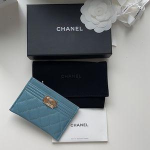 Blue Boy Chanel Card Holder for Sale in Wayne, NJ