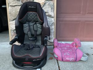 Eddie Bauer reclining car seat and booster for Sale in Oregon City, OR