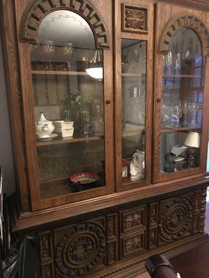Solid oak china cabinet for Sale in E BRIDGEWTR, MA