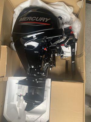 Brand new Manual start Mercury 25hp 4 stroke tiller for Sale in Tucker, GA