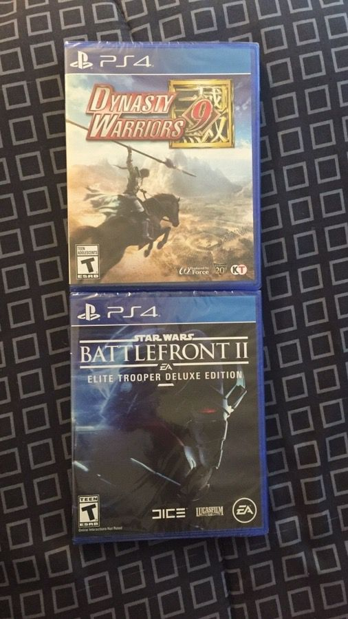 New Sealed PS4 Games