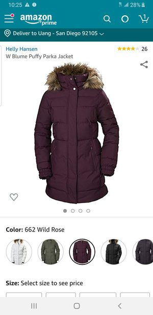 Helly hensen puffy parka jacket large no hood for Sale in San Diego, CA