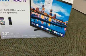 """Brand New Philips ROKU TV 32"""" open box w/ warranty 66 for Sale in Irving, TX"""