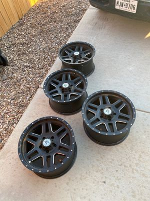 """American outlaw rims 18"""" x 9.5"""" - 5x5 lug pattern for Sale in Gardendale, TX"""
