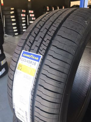 225/45/18 New set of Goodyear tires installed for Sale in Rancho Cucamonga, CA