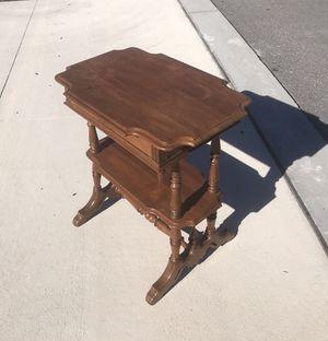 Antique hardwood side table, probably late 1800s. Needs slight refinishing. Family heirloom. for Sale in Centreville, VA