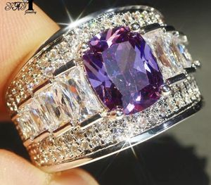 New CZ Purple Sapphire Engagement Wedding Band silver Ring size 9 for Sale in Palatine, IL
