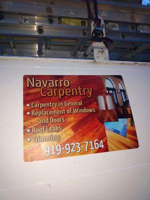 Navarro. Carpentry for Sale in Hillsborough, NC