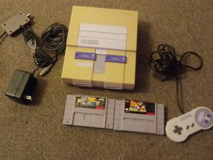 Super Nintendo with 2 games, 1 controller & all cords for Sale in Akron, OH