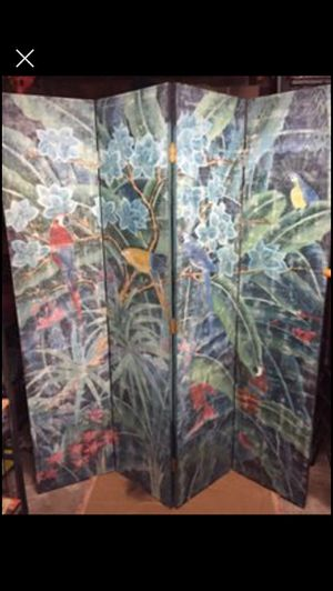 Hand-Painted Wooden Screen/Decorative Panel for Sale in Dallas, TX