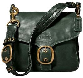 COACH Bleeker Legacy Shoulder BAG Flap Crossbody Tatersall Green Messenger 11419 ➕ WALLET for Sale in Portland,  OR
