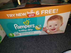 Pampers baby dry diapers size 4 for Sale in Melrose Park, IL