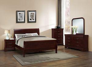 Brand New 5pc. Cherry Queen Bedroom Set for Sale in Austin, TX