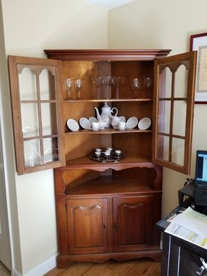 Vintage Corner Cabinet Cupboard, China Cabinet for Sale in Alexandria, VA