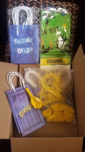 Fortnite birthday supplies 100 pieces for Sale in Arvada, CO