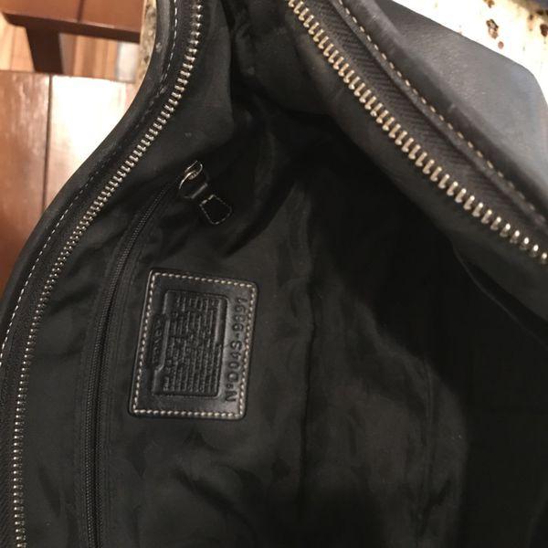 Black Leather Coach Hobo Bag/Purse