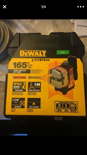 "Dewalt LEVEL 165"" CROSS LINE PLUS 90* LASER NEW for Sale in Long Beach, CA"