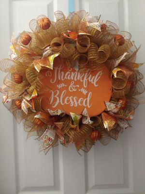 Fall Thankful Blessed Wreath for Sale in San Antonio, TX