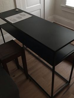 Console Table, Black Metal for Sale in Portland,  OR