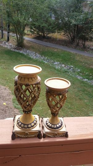 Pair of candle holders for Sale in Durham, NC