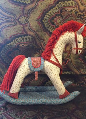 Used, Fabric vintage looking rocking horse for Sale for sale  Chicago, IL